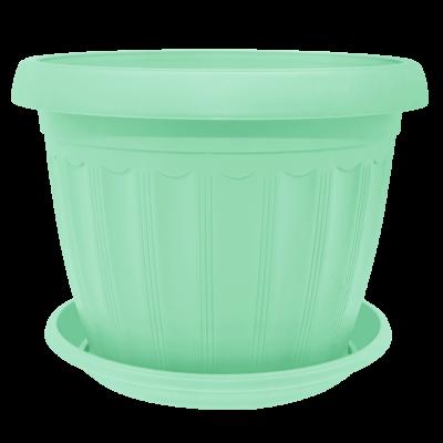 Вазон с подставкой «Терра» 17*13 см 1,6 л (салатовый) Алеана 112067