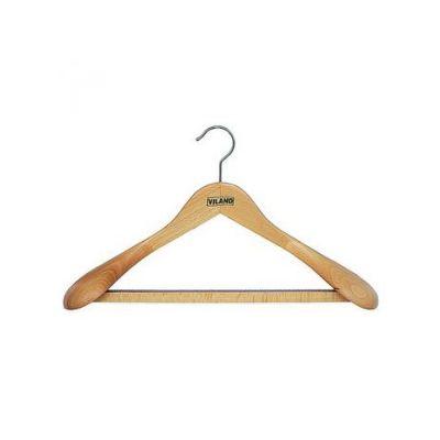 Вешалка для тяжелой одежды с рез.лентой на перекладине, 43,0 х 6,5 см, VILAND