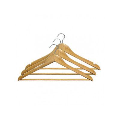 Вешалка одежная, ТМ МД, с нарезами, 44,5 х 23,0 х 1,2 см (3 шт.)