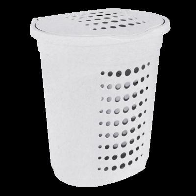Корзина для белья 60 л (белый флок) Алеана 122053