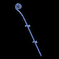"Опора для орхидей ""Спираль"" 64 см (синий прозрачный PS) Алеана 114043"