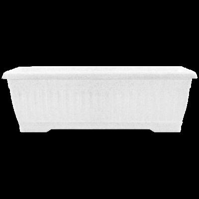 Вазон «Терра» балконный 50*19*16 см 9 л (белый флок) без поддона Алеана 114097