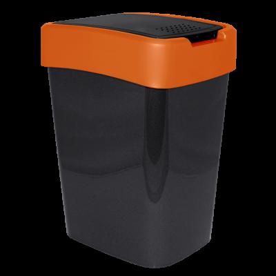 "Ведро для мусора ""Евро"" 18 л (гранит/оранжевый) Алеана 122067"
