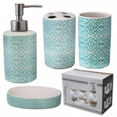 Набор аксессуаров для ванной комнаты Голубой узор SnT 888-120