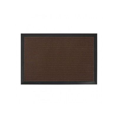 Коврик придверный с узором коричневый, полипропилен,ТМ МД, 40*60 см