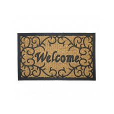"""Коврик кокосовый """"Welcome"""" на резиновой основе, 45х75 см"""