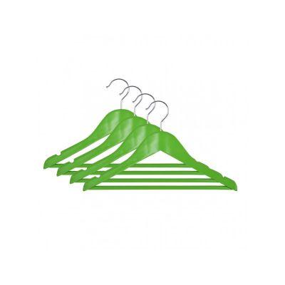 Вешалка подростковая, 33,5 х 16 х 1,2 см,ТМ МД, одежная, зеленая, (4 шт)