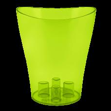 """Вазон для орхидей """"Ника"""" 16*19 см 2 л (ультра зеленый PS) Алеана 114051"""
