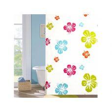 """Шторка для ванной комнаты """"Цветочная"""", 180*180cм PEVA"""