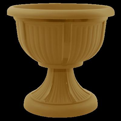 Вазон с подставкой «Леон» 41*39 см 15 л (бронзовый) Алеана 114002