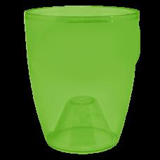 Вазон «Орхидея» 12*14 см 1 л (зеленый прозрачный PS) Алеана 113093