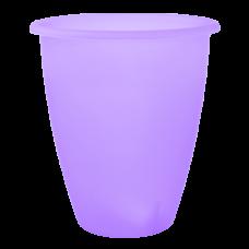 Вазон «Лукас» 13*15 см 1,1 л (сиреневый прозрачный) Алеана 113097