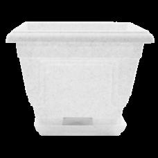 Вазон c подставкой «Петуния» 23*23*18 см 3,6 л (белый флок) Алеана 113016