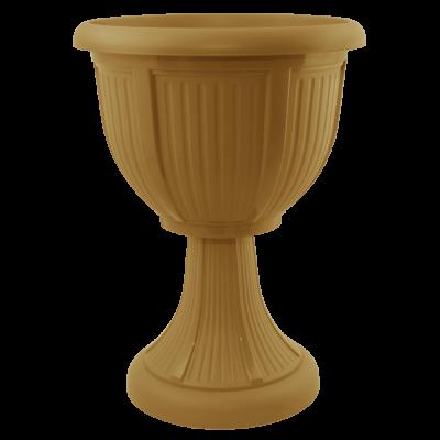 Вазон с подставкой «Леон» (глубокий) 41*53,5 см 15 л (бронзовый) Алеана 114007