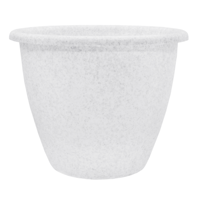 Вазон «Верона» 27*20,5 см 6,5 л (белый флок) Алеана 112013