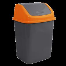 Ведро для мусора 10 л (гранит/оранжевый) Алеана 122063
