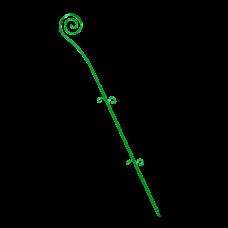 """Опора для орхидей """"Спираль"""" 64 см (ультра зеленый PS) Алеана 114043"""