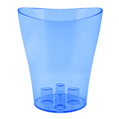 "Вазон для орхидей ""Ника"" 13*15,5 см 1 л (синий прозрачный PS) Алеана 114050"