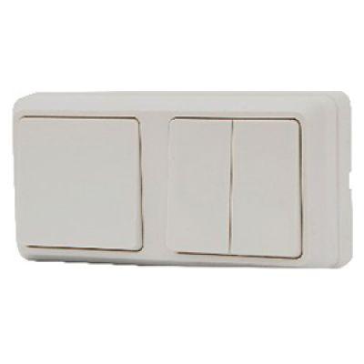 Блок - 1 одноклавишный + 1 двухклавишный АСКО