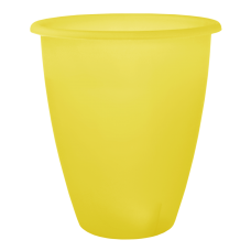 Вазон «Лукас» 13*15 см 1,1 л (жёлтый прозрачный) Алеана 113097