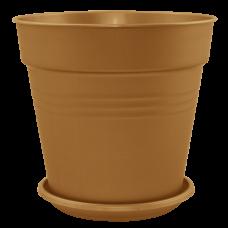 Вазон с подставкой «Глория» 24*22,5 см 6,6 л (бронзовый) Алеана 114017