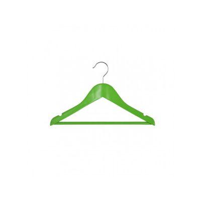 Вешалка подростковая, 33,5 х 16 х 1,2 см,ТМ МД, одежная, зеленая.