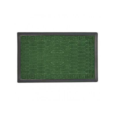 Коврик придверный с узором зеленый, полипропилен,ТМ МД, 45*75 см