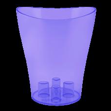 """Вазон для орхидей """"Ника"""" 16*19 см 2 л (фиолетовый прозрачный PS) Алеана 114051"""