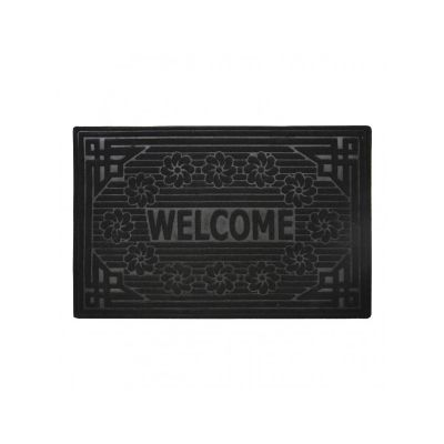 Коврик придверный без кромки, с рисунком черный, ТМ МД, 45*70