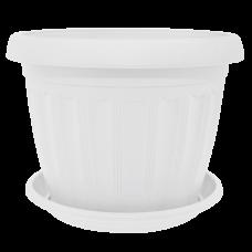 Вазон с подставкой «Терра» 25*19 см 5,6 л (белый) Алеана 112065