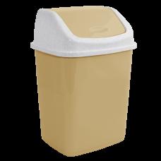 Ведро для мусора 10 л (кремовый/белый флок) Алеана 122063