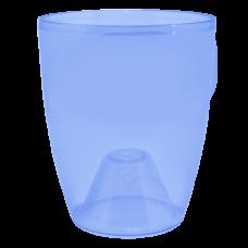 Вазон «Орхидея» 15*17 см 1,8 л (синий прозрачный PS) Алеана 113094