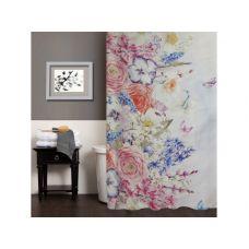 """Шторка для ванной комнаты """"Цветочное утро"""", 180*200 cм"""