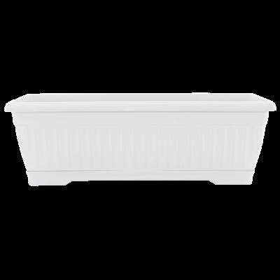 Вазон «Терра» балконный 50*19*16 см 9 л (белый) без поддона Алеана 114097