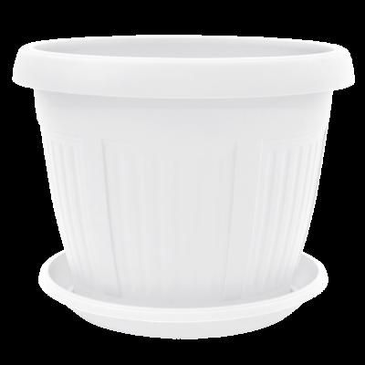 Вазон c подставкой «Николь» 22*17 см 3,4 л (белый) Алеана 113005