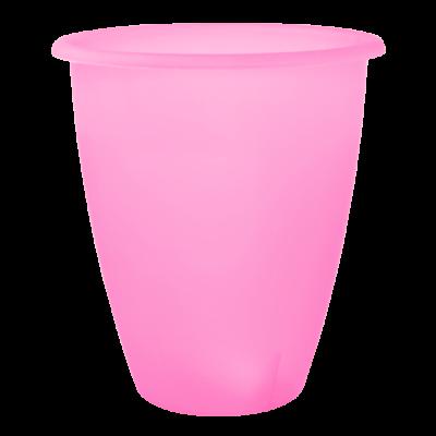 Вазон «Лукас» 13*15 см 1,1 л (розовый прозрачный) Алеана 113097