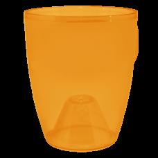 Вазон «Орхидея» 15*17 см 1,8 л (тёмно-оранжевый PS) Алеана 113094