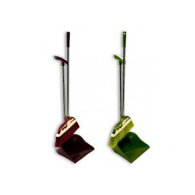 Совок с длинной ручкой + щетка для подметания, ТМ МД, 30 х 90 см