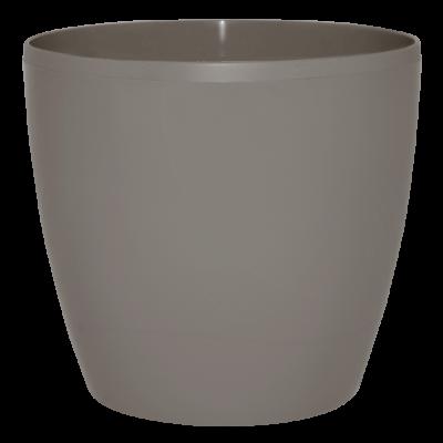 Вазон «Матильда» с поливом и дренажом 16*15 см 2,1 л (тёмно-серый глиттер) Алеана 114093