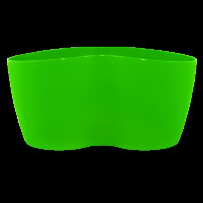 Вазон кактусник 2 растения 18*10,5*9 см 0,9 л (светло-зеленый) Алеана 113052
