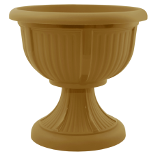 Вазон с подставкой «Леон» 21*20 см 1,8 л (бронзовый) Алеана 114004