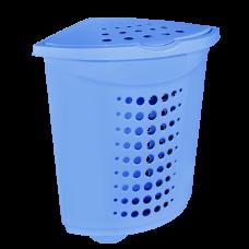 Корзина для белья угловая 45 л (голубой) Алеана 122051