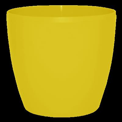 Вазон «Матильда» 12*11 см 0,9 л (тёмно-жёлтый) Алеана 113082