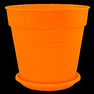 Вазон с подставкой «Глория» 24*22,5 см 6,6 л (оранжевый) Алеана 114017