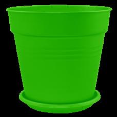 Вазон с подставкой «Глория» 15*14,5 см 1,6 л (светло-зеленый) Алеана 114016
