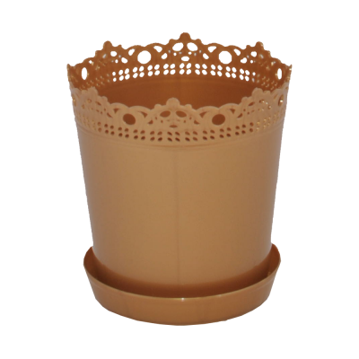 """Вазон """"Ришелье"""" с подставкой-дренажом 17*17,5 см 2 л (бронзовый) Алеана 114060"""