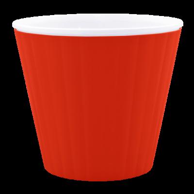 Вазон «Ибис» с двойным дном 13*11,2 см 1 л (красный бархат/белый) Алеана 114032