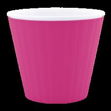 Вазон «Ибис» с двойным дном 15,7*13 см 1,6 л (тёмно-розовый/белый) Алеана 114034