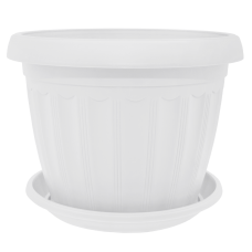 Вазон с подставкой «Терра» 14*11 см 0,8 л (белый) Алеана 112068