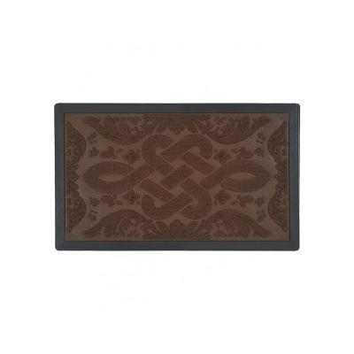 Коврик придверный с узором коричневый, полипропилен,ТМ МД, 45*75 см